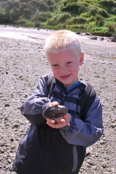 DSC_0049Elliot with mussel shells
